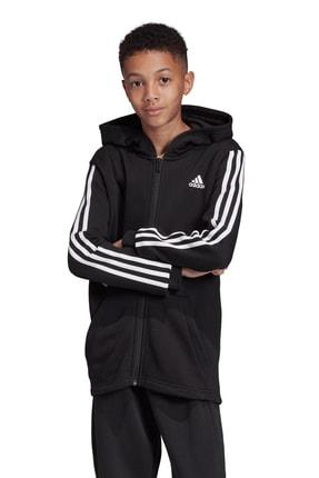 adidas YB MH 3S FZ Siyah Erkek Çocuk Sweatshirt 101117607