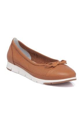 Tergan Taba Deri Kadın Ayakkabı 64292A29