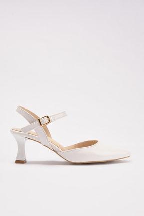 Hotiç Beyaz Kadın Klasik Topuklu Ayakkabı 01AYH214400A900