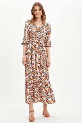 DeFacto Kadın Desenli Elbise N7342AZ.20SM.BG615