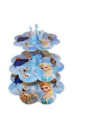 BALONCU PARTY DÜNYASI Frozen Elsa Temalı Cupcake Standı 3 Katlı