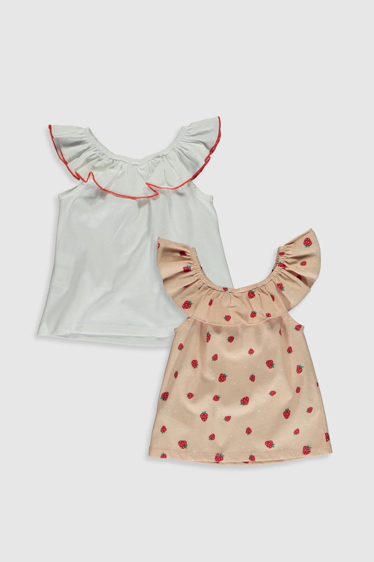 LC Waikiki Kız Bebek Pembe Baskılı Lt4 Bluz 2