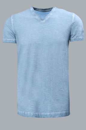 Lufian Geras Basic T- Shirt MAVİ - 111020008100300