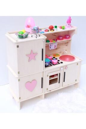 Baby Toyz Ahşap Çocuk Oyun Mutfak Dolabı