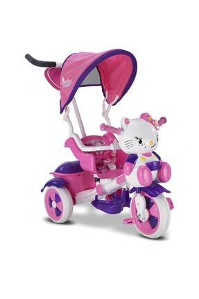 BabyHope Kız Bebek Pembe 2020 Model Çantalı Kety Üç Teker Ebeveyn Kontrollü Arkadan Itmeli Bisiklet 135