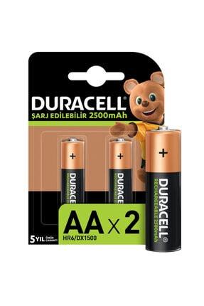 Duracell Şarj Edilebilir Turbo Aa Piller, 2 Adet 2500 Mah Pil 19.05.057.047