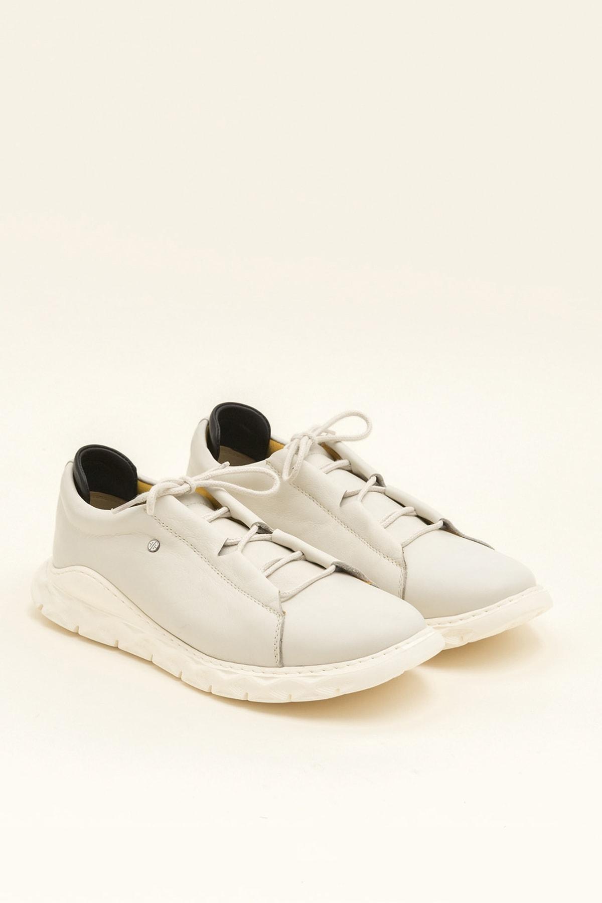 Elle Shoes MANOJI Hakiki Deri Bej Erkek Ayakkabı 2