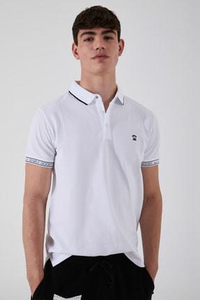 Ltb Erkek  Beyaz Polo Yaka T-Shirt 012208408060890000