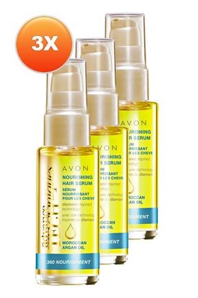 AVON Fas Argan Yağı Besleyici Saç Serumu 30 ml 3'lü Set 5050000108348