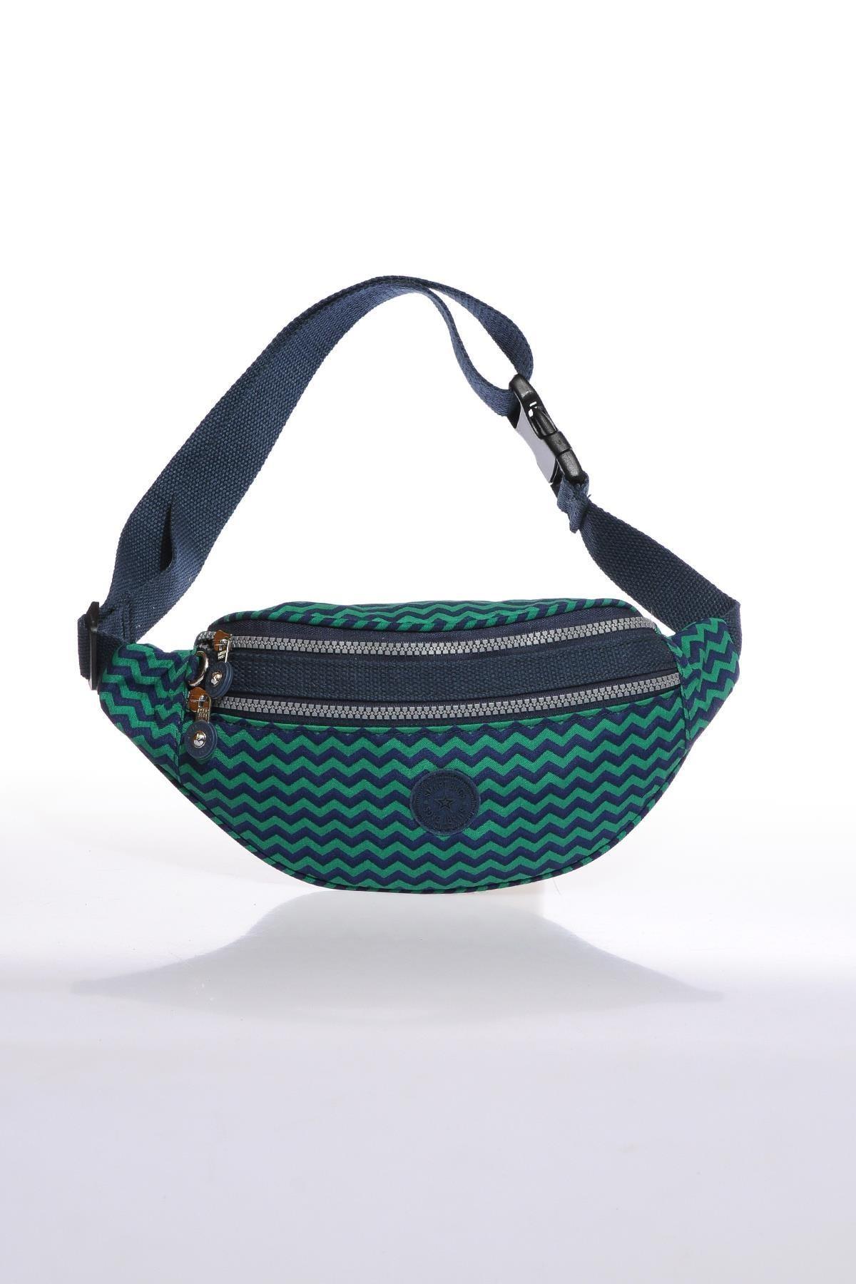 SMART BAGS Lacivert/Yeşil Kadın  Bel Çantası Smb3030