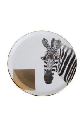 Porland Wild Life Zebra Düz Tabak 20cm