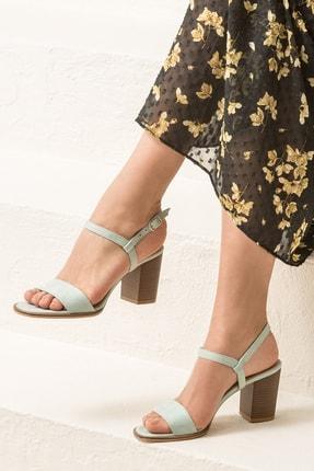 Elle Shoes GUSTINEE Su Yeşili Kadın Sandalet
