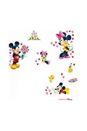 KT Decor Mickey Mouse & Minnie Mouse Duvar Sticker Seti