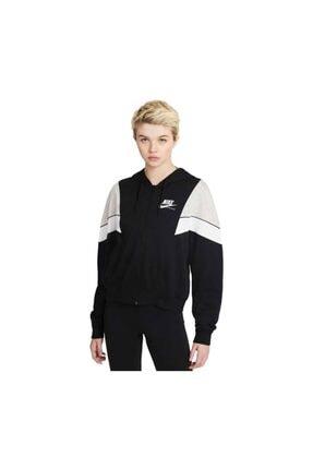 Nike Kadın Siyah W Nsw Herıtage Fz Flc Sweatshirt