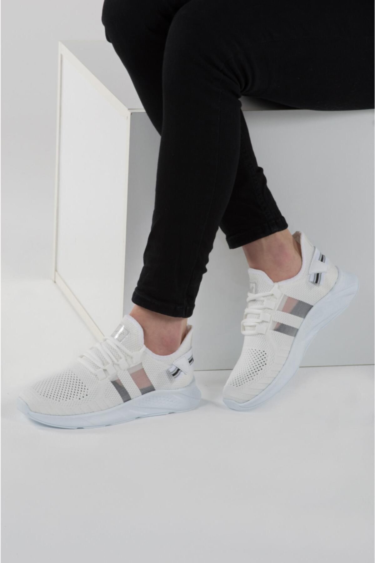 L.A Polo 136 Beyaz Beyaz Delikli Yazlık Erkek Spor Ayakkabı 2