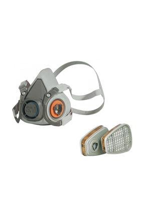 3M 6200 Yarım Yüz Gaz Maskesi Seti (6051 Filtre İle Birlikte)