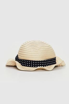 LC Waikiki Kız Bebek Ekru Fdu Şapka