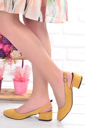 Ayakland 510-74 Süet 3 Cm Topuk Kadın Sandalet Ayakkabı