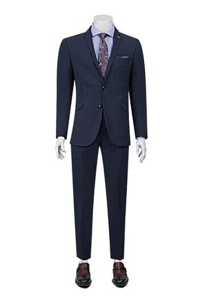 Twn Lacivert Renk Erkek  Takım Elbise (Slim Fit)