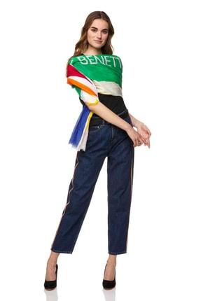United Colors of Benetton Kadın Yanları Şeritli Boyfriend Jean Pantol 312014AMD574P4-901