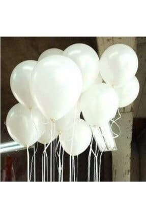 EXİZTİCARET Metalik Sedefli Balon Helyum Gazına Uyumlu Uçan Balon 25 Adet