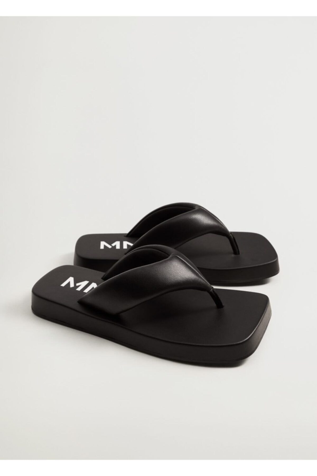 MANGO Woman Kadın Siyah Kapitone Platform Sandalet 1