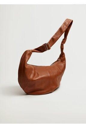 MANGO Woman Kadın Deri Çanta