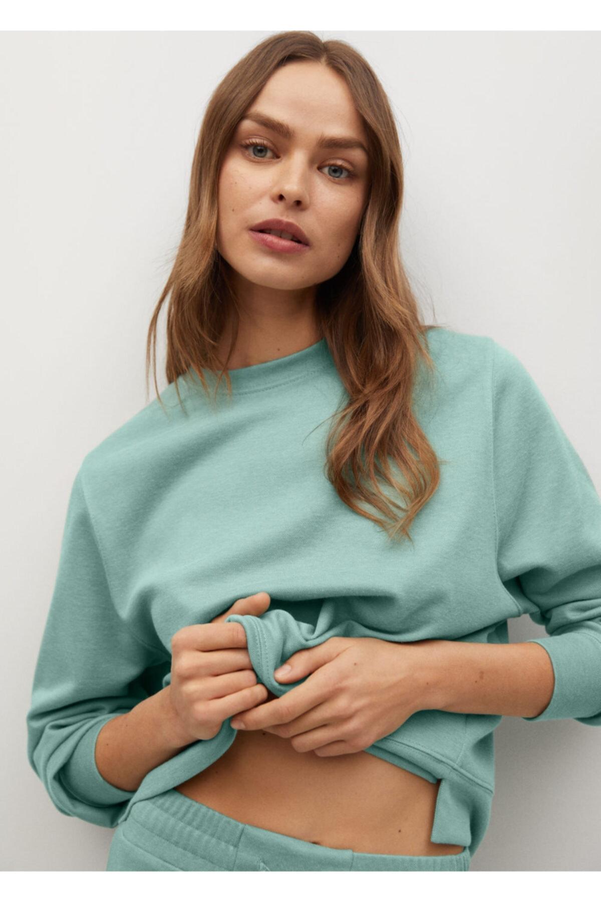 MANGO Woman Basic Sweatshirt 1