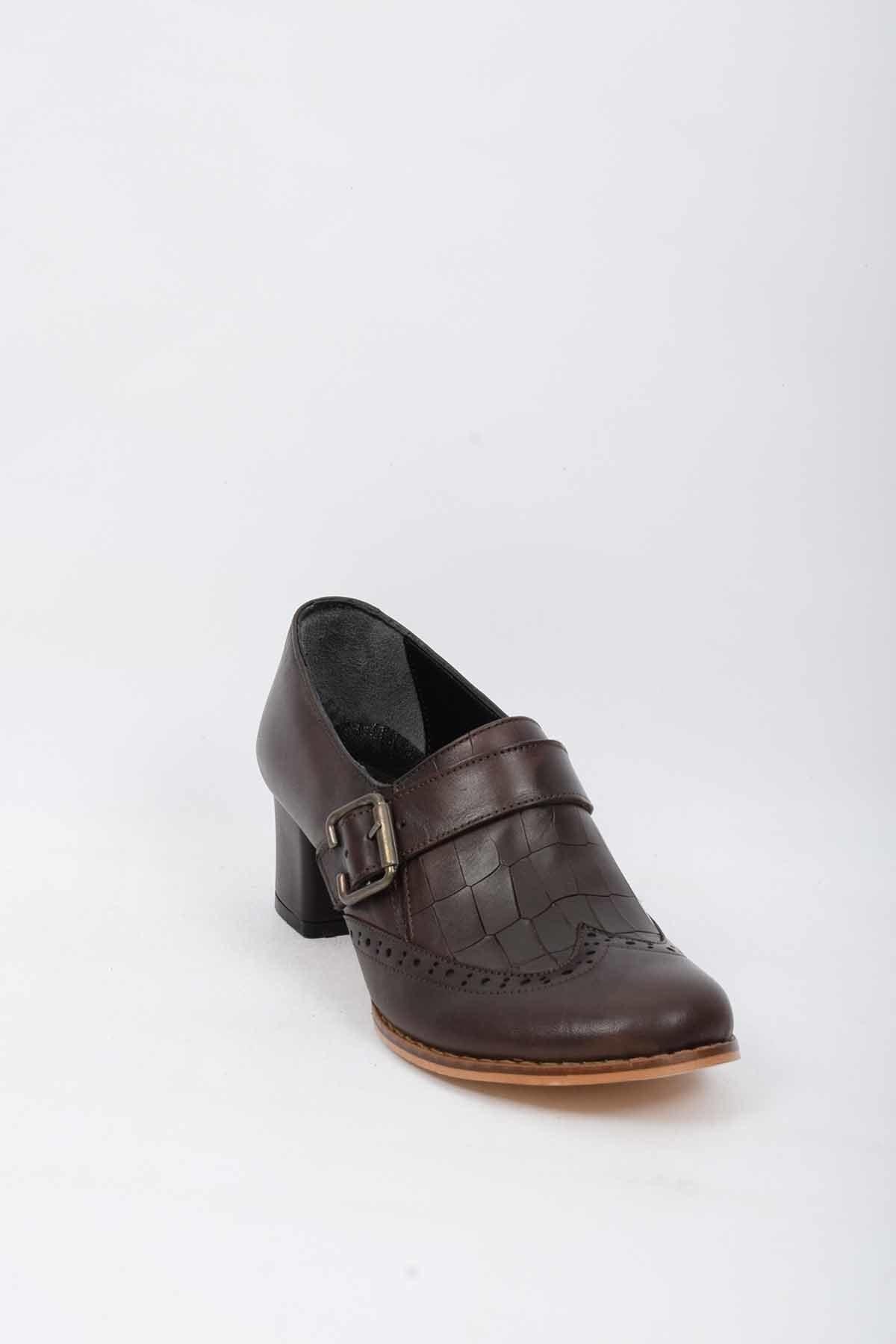 CHELSY Hakiki Deri Kadın Klasik Topuklu Ayakkabı 2