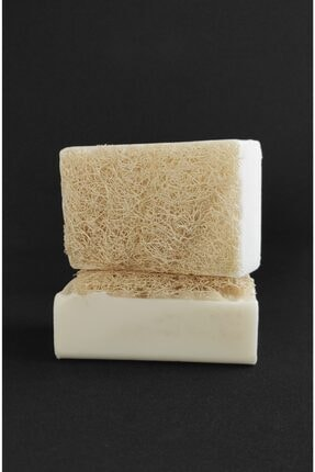 EQMQ STORE KOZMETİK Doğal Kabak Lifli Eşek Sütü Sabunu, Eşek Sütlü Sabun 120 Gr.