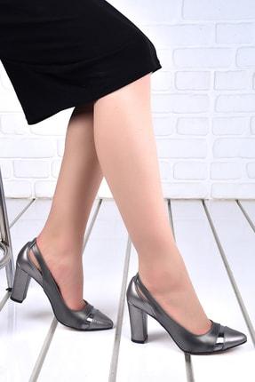 Ayakland Kadın Cilt 8 Cm Topuk Ayakkabı 137029-2041