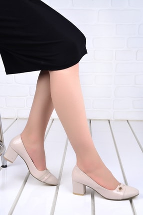 Ayakland Kadın Cilt 5 Cm Topuk Ayakkabı 99046-2055