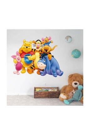 KT Decor Winnie The Pooh Arkadaşlar Çocuk Odası Duvar Sticker