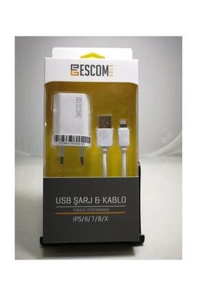 Escom Esc407 Iphone Şarj Set 1a