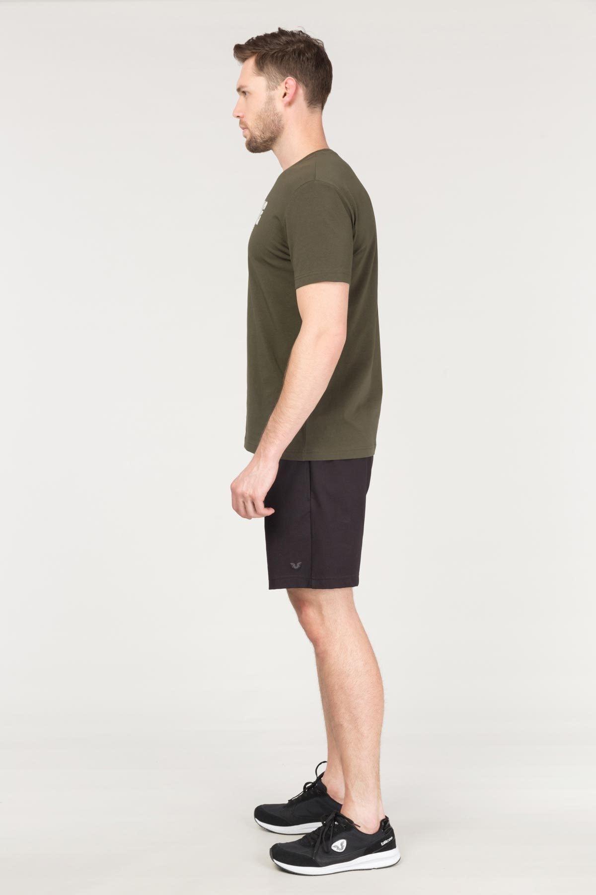 bilcee Yeşil Pamuklu Erkek T-Shirt FS-1681 2