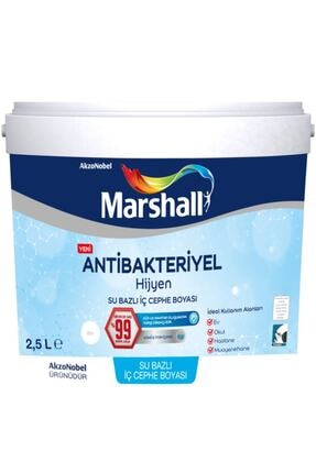 Marshall Antibakteriyel Hijyen Iç Cephe Duvar Boyası 2,5 Lt Kum Beji