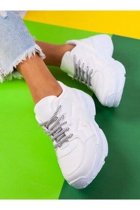 ayakkabıhavuzu Kadın Beyaz Spor Ayakkabı