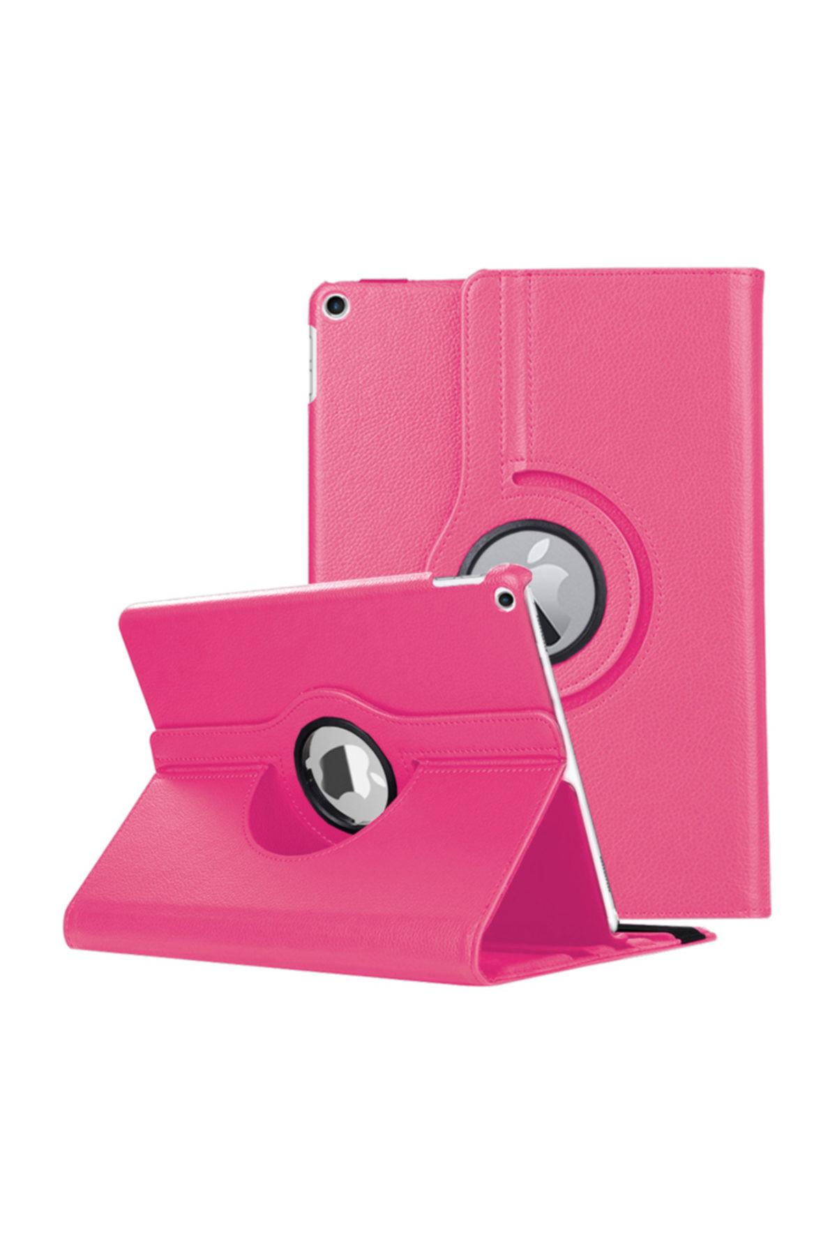 Microsonic Apple iPad Air 3 10.5'' 2019 (A2152-A2123-A2153-A2154) Kılıf 360 Rotating Stand Deri Koyu Pembe 1