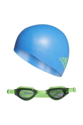 adidas Kıds Swım Set Çocuk Yüzme Gözlüğü Yeşil
