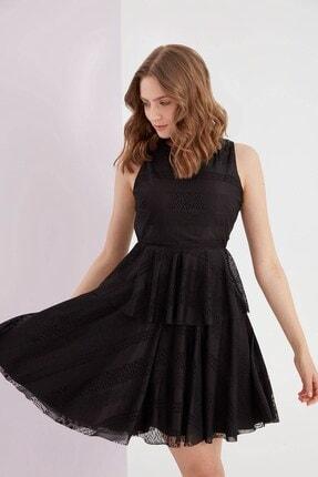 Journey Kadın O Yaka Kolsuz Katlı Elbise