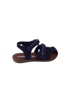 Toddler Unisex Doğal Deri Ortopedik Taban Sandalet 01316