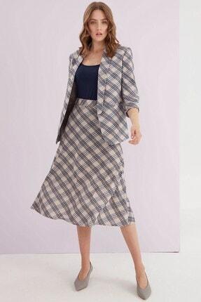 Journey Kadın Ceket Şal Yaka, Kol Ucu Duble Detaylı, Rahat Kesim