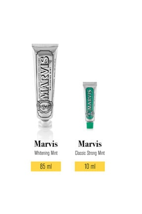 Marvis Whitening Mint Diş Macunu 85 Ml Classic Strong Mint 10 Ml