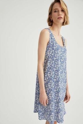 DeFacto Regular Fit Çiçek Desenli Kalın Askılı Elbise