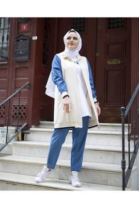 Camelya Fashion Kadın Bej Şık Eşofman Takımı
