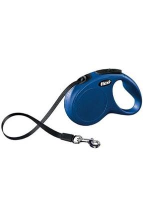 Flexi Mavi New Classic Şerit Otomatik Gezdirme Tasması L 5mt