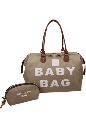 Stylo Anne Bebek Bakım Kadın Çantası Baby Bag-vizon