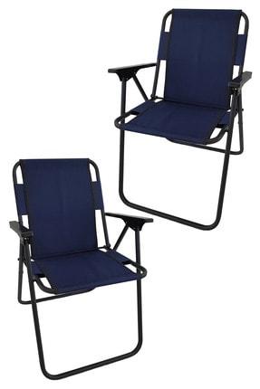 Bofigo 2 Adet Kamp Sandalyesi Katlanır Sandalye Piknik Sandalyesi Plaj Sandalyesi Lacivert.