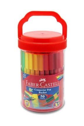 Faber Castell Eğlenceli Keçeli Kalem 50 Renk Plastik Kova