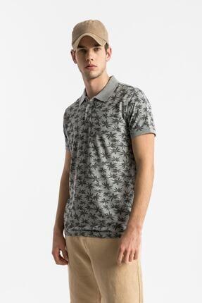 Ltb Erkek  Gri Polo Yaka T-Shirt 012208430760890000